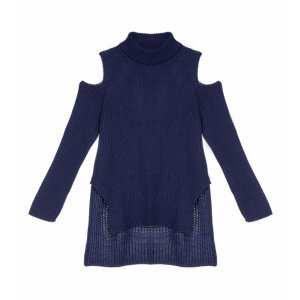 Suéter Feminino Cut Out Tricot