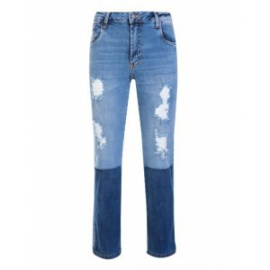 Calça Jeans Slim Destroyed