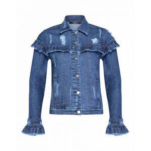 Jaqueta Jeans Com Babados