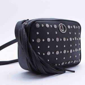 Bolsa Shoulder Bag Studs Preta