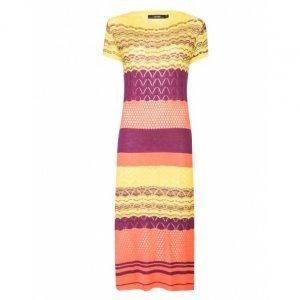 Vestido Midi Crochet Listras