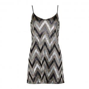 Vestido Graphic Sequin Slip - 42