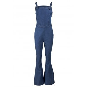 Macacão Flare Em Jeans De Algodão Dzarm