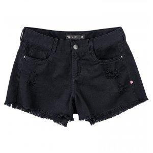 Shorts Destroyed Com Barra Desfiada Em Sarja Dzarm