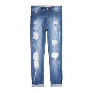 Calça Jeans Na Base Istambul Destroyed Com Barra Desfiada