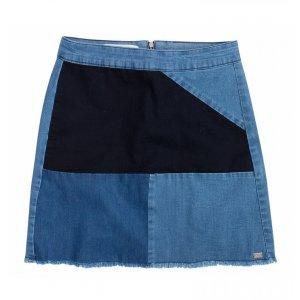 Saia Jeans Em Patchwork Dzarm
