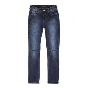 Calça Jeans Feminina Hering Com Rasgos
