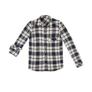 Camisa Feminina Hering Xadrez Em Tecido De Viscose