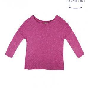 Blusa Feminina Básica Em Malha Botonê Com Modelagem Comfort