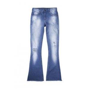 Calça Jeans Feminina Flare De Cintura Alta