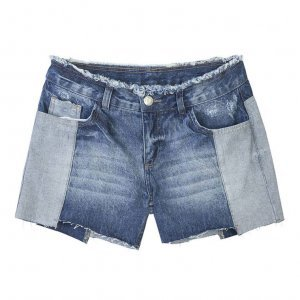 Shorts Comfort Jeans Feminino Hering Com Detalhes Destroyed