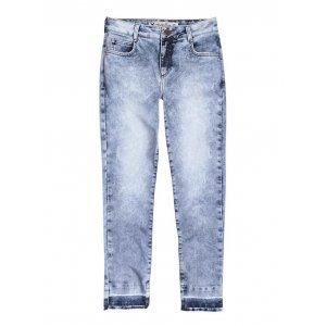 Calça Feminina Hering Em Jeans Cropped Marmorizado