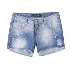Shorts Jeans Feminino Hering Com Cintura Intermediária