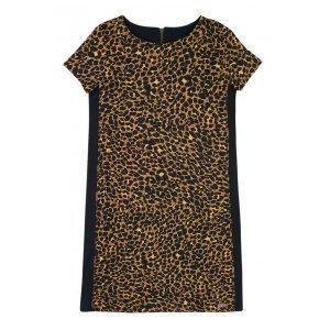 Vestido T-Shirt Em Malha Com Estampa Em Animal Print