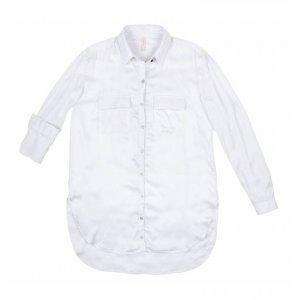 Camisa Fluída Em Tecido De Viscose Com Bolsos
