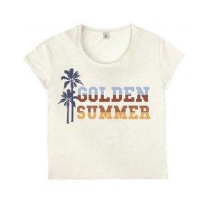 Blusa T-Shirt Feminina Estampada Em Malha De Algodão