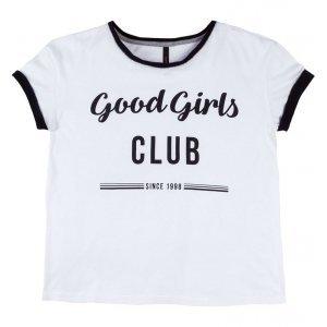 T-Shirt Com Estampa Frontal E Mangas Dobradas