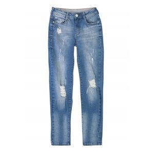 Calça Jeans Na Base Berlin  E Efeito Destroyed