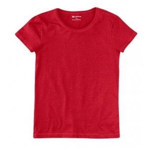 Camiseta Básica Feminina Slim Em Algodão Com Elastano