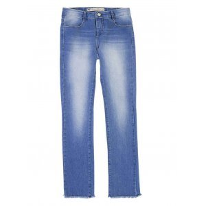 Calça Jeans Feminina Na Modelagem Regular Com Lavação