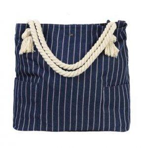 Bolsa Feminina Em Tecido De Algodão Com Alças De Ombro