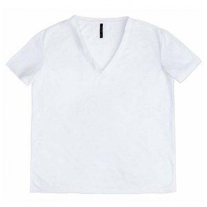 T-Shirt Em Malha Botonê Com Decote Em V