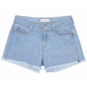 Shorts Jeans Soltinho Em Lavação Délavé