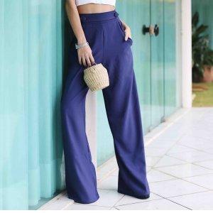 Calça Pantalona Militar Blue