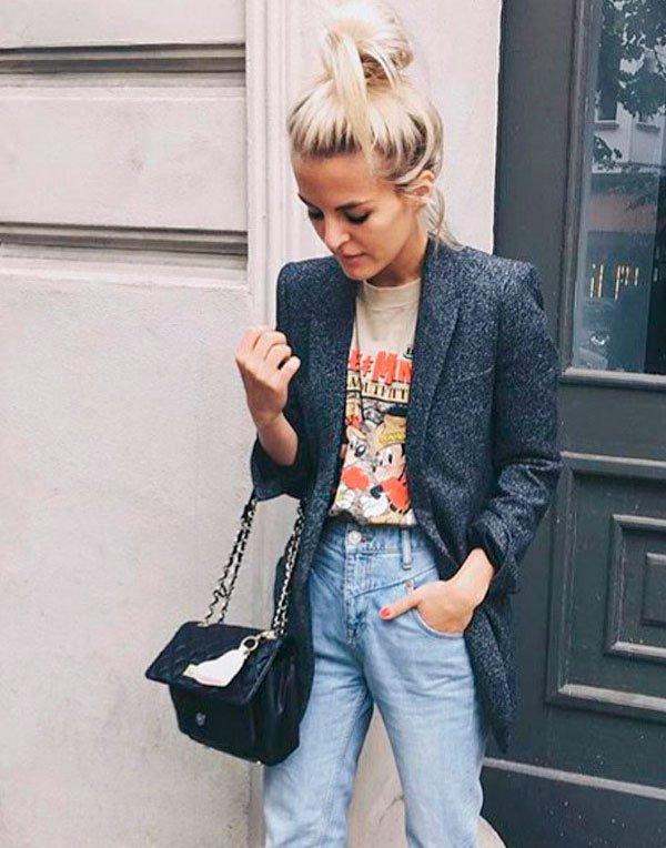 9 maneiras muito cool de usar t-shirt vintage