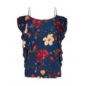 Blusa Feminina Open Shoulder Floral