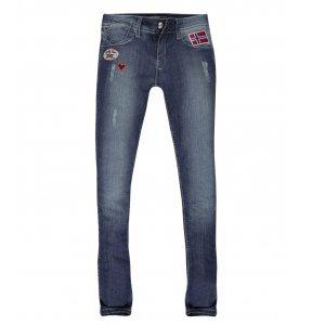 Calça Jeans Skinny Patches Coração