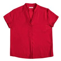 Blusa Básica Feminina Em Tecido De Viscose E Modelagem Comfort