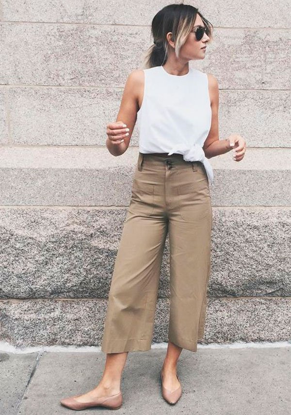 8 novas maneiras de usar culotte no office look