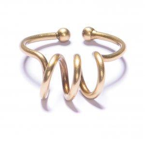 Anel Espiral Ouro Velho Tamanho:  U - Cor:  Ouro Velho