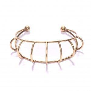 Bracelete Arcos Ouro Velho Tamanho:  U - Cor:  Ouro Velho