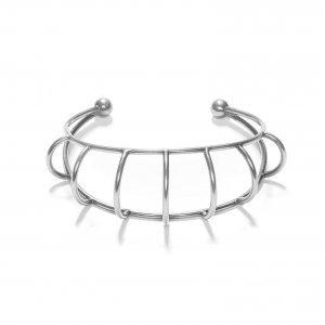 Bracelete Arcos Prata Velho Tamanho:  U - Cor:  Prata Velho