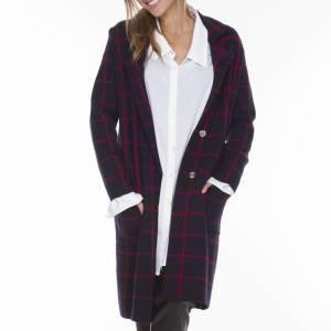 Maxi Coat Xadrez Tamanho: U - Cor: Multicolorido