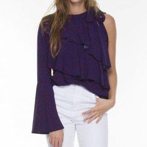 Blusa Estrelas Ombro Purple