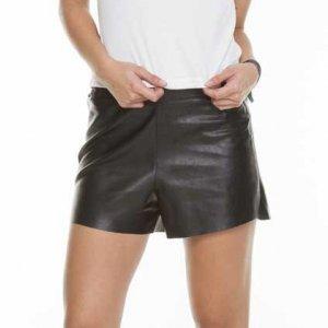 Shorts De Couro Eco