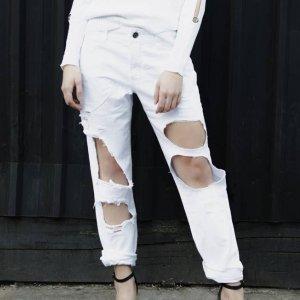 Calça Jeans Boyfriend Rasgada