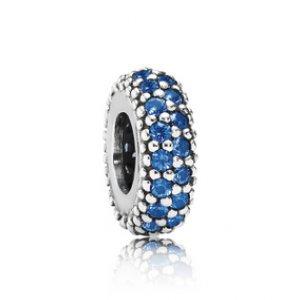 Separador De Prata Brilho Brilhante Azul (Único)