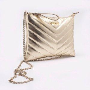 Bolsa Shoulder Bag Metalizada Ouro - P