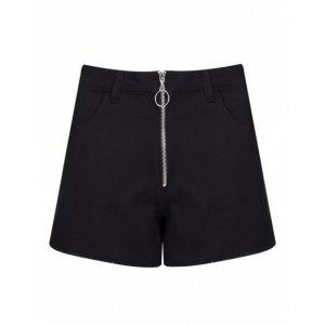 Shorts Cintura Alta Com Zíper