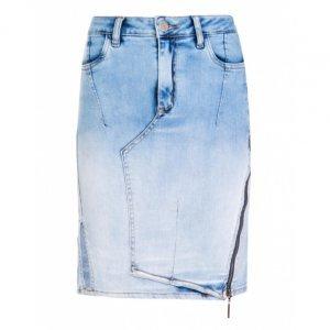 Saia Jeans Zíper Lateral