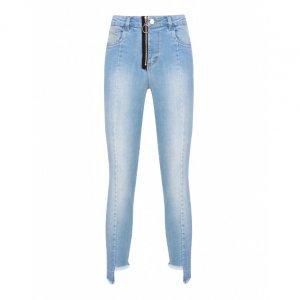 Calça Jeans Skinny Recorte Detalhe