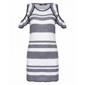 Vestido Tricot Recorte Ombro