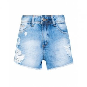 Shorts Jeans Barra A Fio