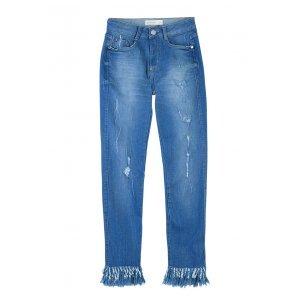 Calça Jeans Na Base Berlin Com Barra Franjada