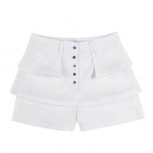 Shorts Saia Feminino Em Tecido De Viscose Com Efeito Babado