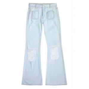 Calça Jeans Na Base Veneza Em Lavação Délavé Com Bolsos
